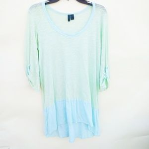 Anthropologie Left of Center Mint Top Size S NWOT
